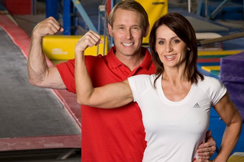 Nadia Comaneci and Bart Conner