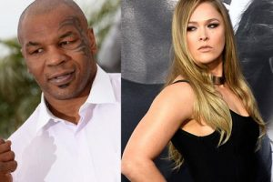 Ronda Rousey with Mike Tyson